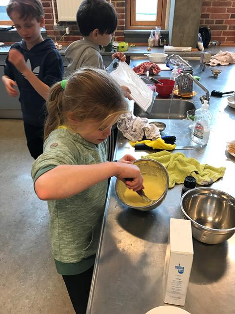 Store og små koncentrerede sig i om madlavningen