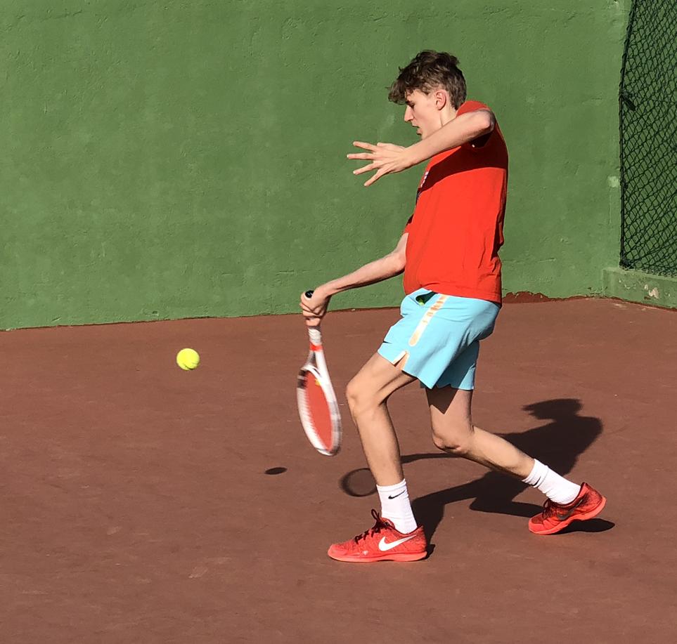 Der var god gang i tennistræningen